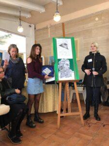 L\'alunna Felli Sofia della classe 3C Liceo Artistico premiata al concorso \